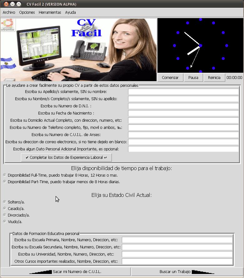 Facil 2 - Escribiendo tu currículum en Ubuntu