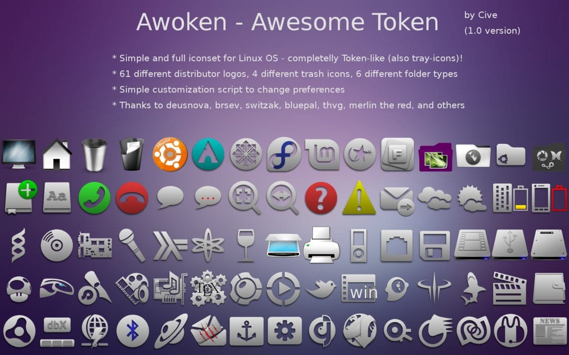 Awoken - Awesome Token, Icon Pack