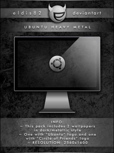 Ubuntu Heavy Metal por EldiS82 en deviantART