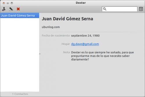Dexter - Lista de contactos