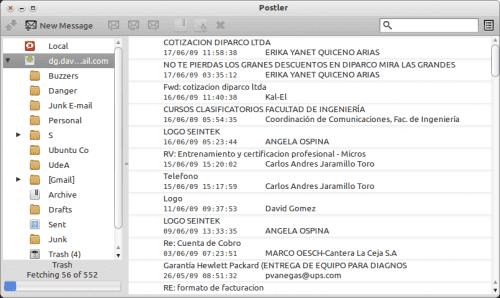 Postler - Lista de correo