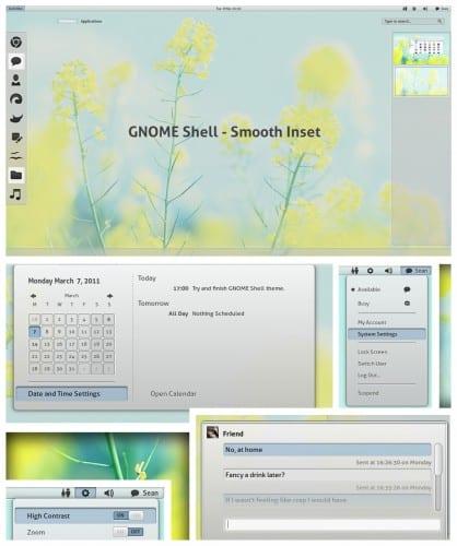 Smooth Inset para Gnome Shell