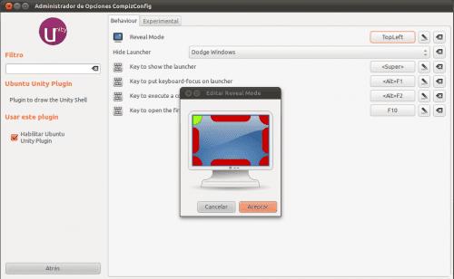 Configurando Unity en Ubuntu 11.04, comportamiento del lanzador