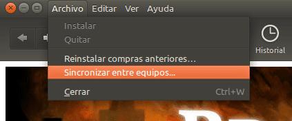 Sincronizar aplicaciones instaladas con otros equipos, en Ubuntu 11.10