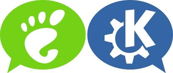 KDE y gnome