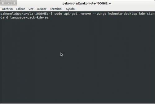 Desinstalando KDE