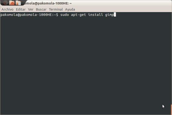 sudo apt-get install gimp
