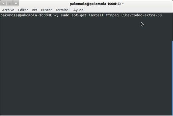 Instalando librerías extras para avconv ffmpeg