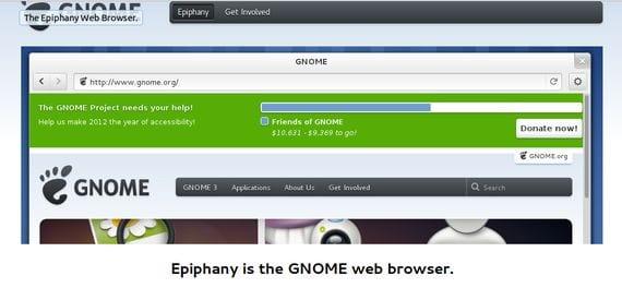 Página web de gnome proyecto Epiphany