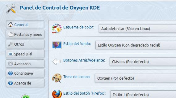 Firefox Oxygen KDE