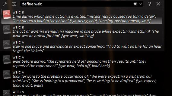 KDE KRunner diccionario