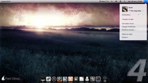 Escritorio Pear Linux 5