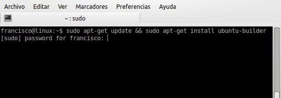 Ubuntu Builder instalación