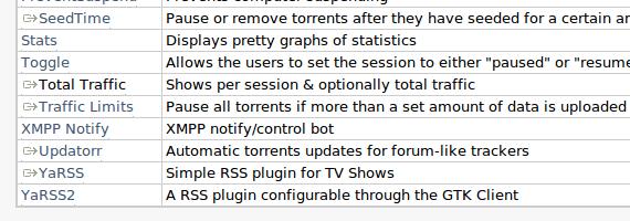 Deluge plugins