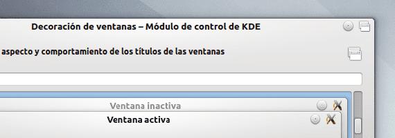 KDE botones decoración ventanas