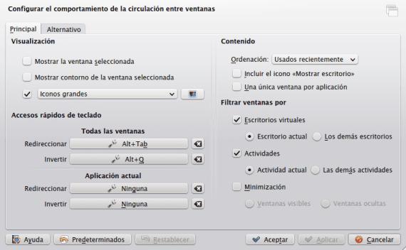 KDE Cambiador de tareas