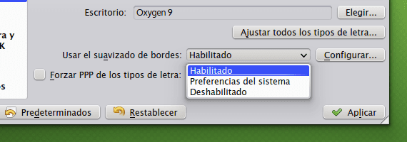 KDE tipos de letra del sistema