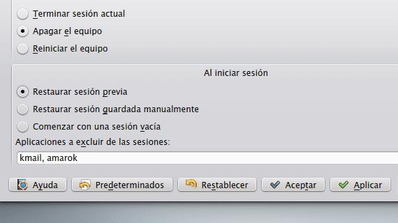 KDE Guardado de sesiones