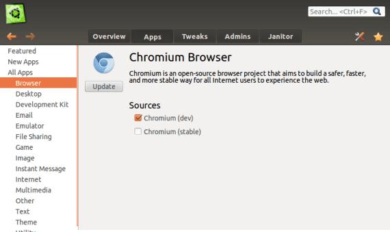 Ubuntu Tweak Aplicaciones
