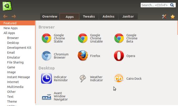 Ubuntu Tweak Apps