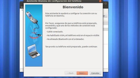 Wammu sincroniza teléfonos móviles con Ubuntu