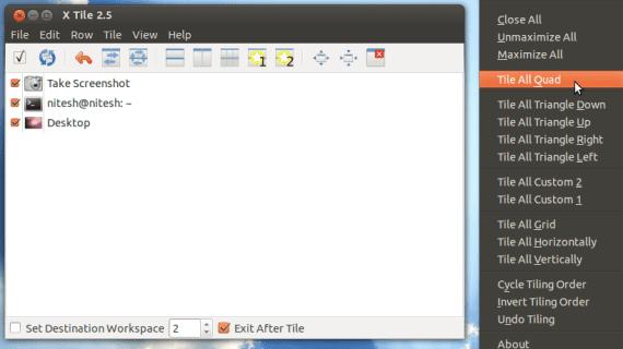 Ventanas mosaico Linux