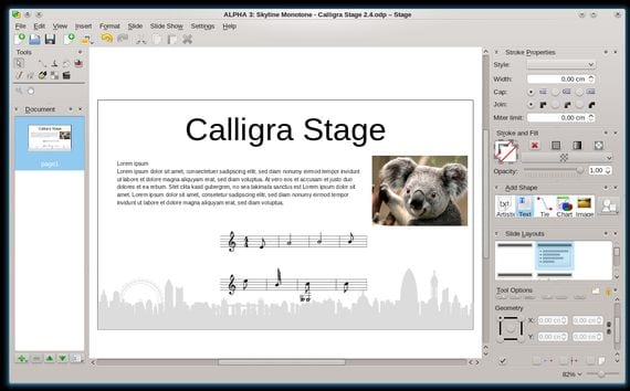 Calligra 2.5.4 disponible