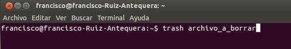 Cómo crear comando personalizado para borrar archivos mandándolos a la papelera