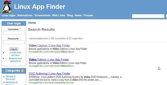 Linux App Finder buscador de Aplicaciones y programas para Linux