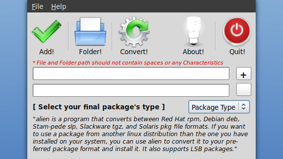 Ubuntu Package Converter