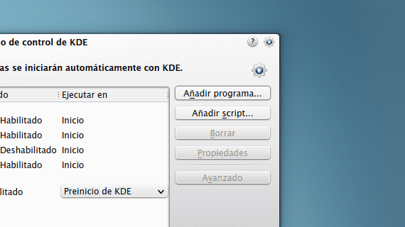 Autoarranque KDE