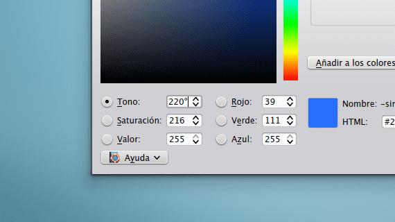 Selector de color de KDE