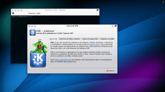 KDE 4.10 openSUSE 12.2