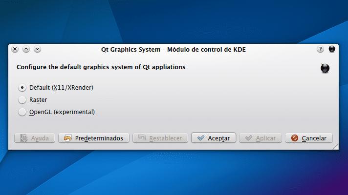 KDE Qt Graphics System
