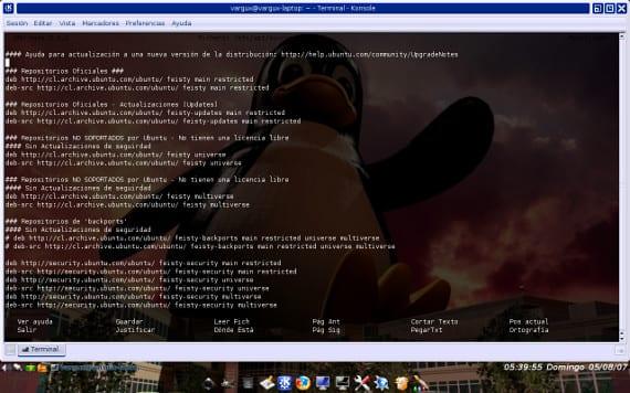 El Repositorio y el Sources.list de Ubuntu