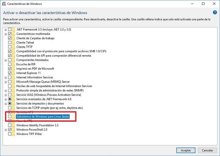 Subsistema de Windows para Linux