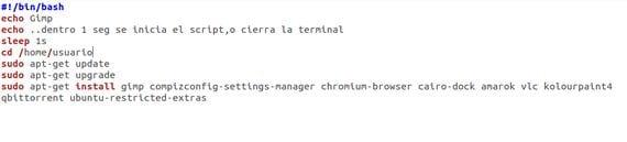 Cómo crear un script básico
