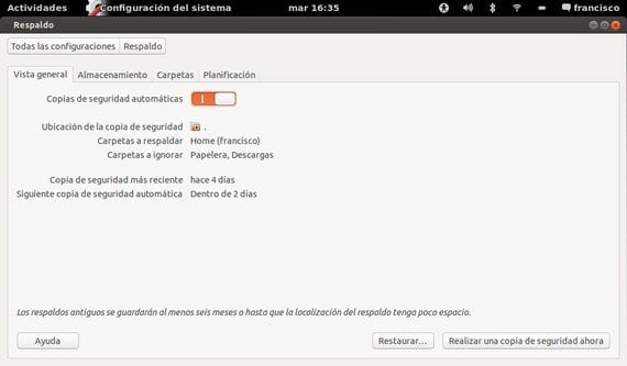Copias de seguridad automatizadas en Ubuntu 13.04