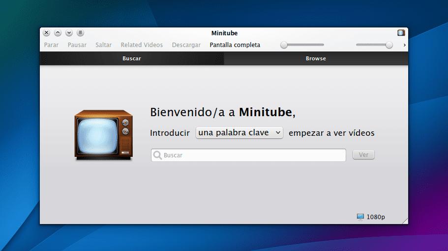 Minitube en openSUSE