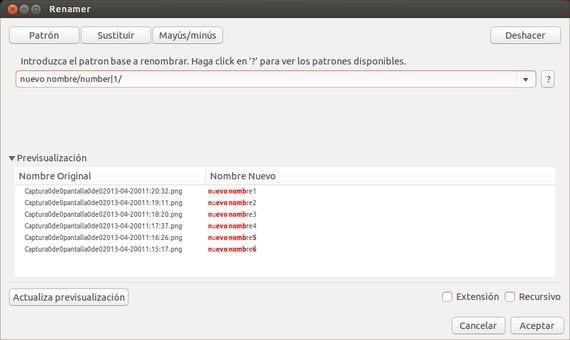 Rename, renombrado masivo de archivos  en Ubuntu