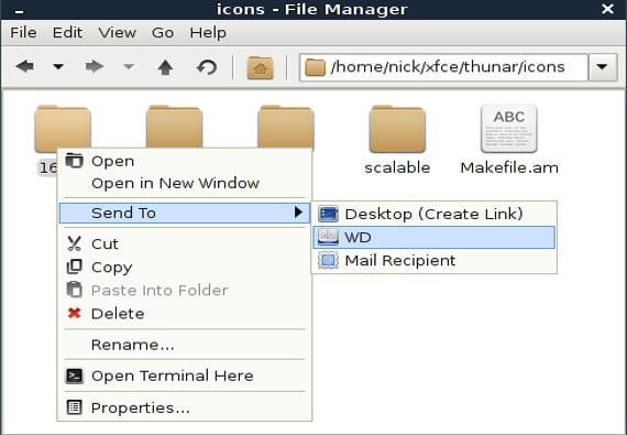 Menú enviar a... de Xubuntu: cómo añadir opciones