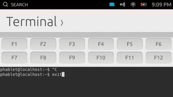 Terminal de Ubuntu para móviles