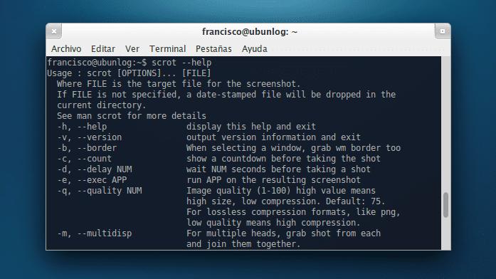 Scrot en Xubuntu 13.04