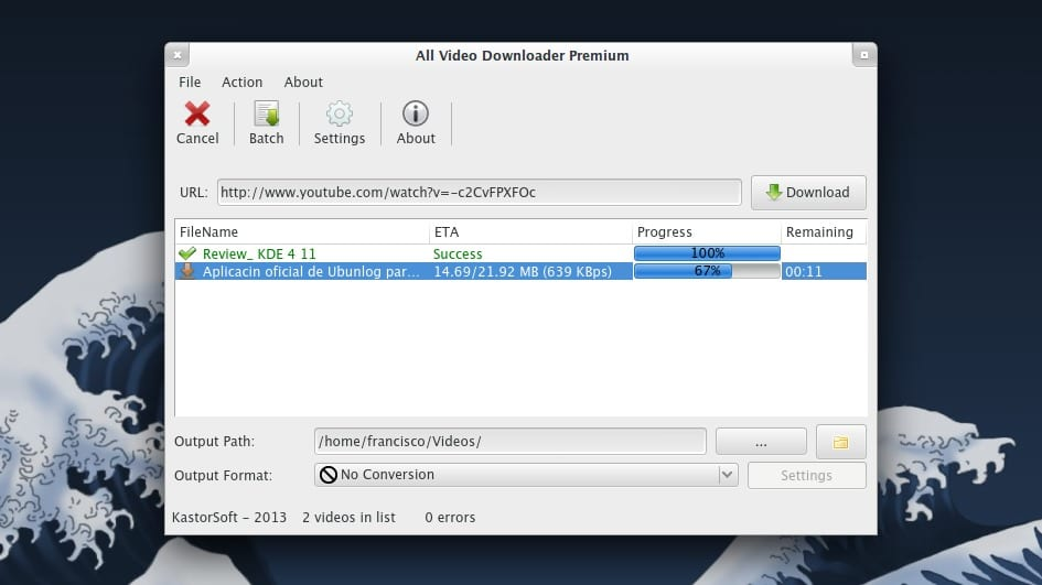 All Video Downloader en Xubuntu 13.04
