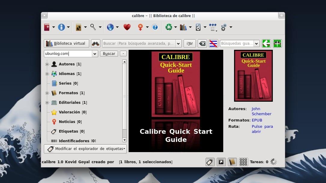 Calibre 1.0 en Xubuntu 13.04