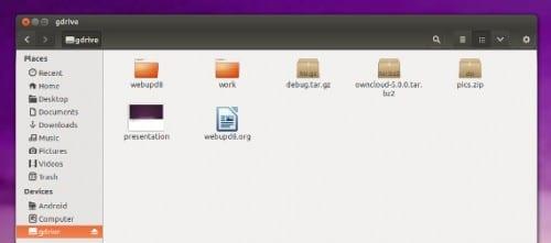 Cómo tener a Google Drive como unidad de disco en Ubuntu