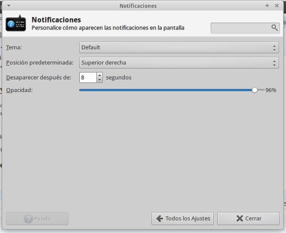 Personalizar las notificaciones en Xubuntu 13.10