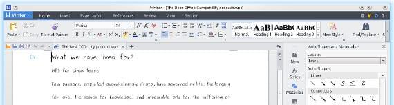 Kingsoft Office, para los nostálgicos del Office 2007