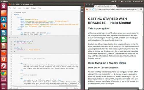 Brackets, el nuevo Dreamweaver de Adobe para Ubuntu