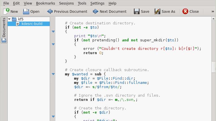 Kate en KDE Frameworks 5